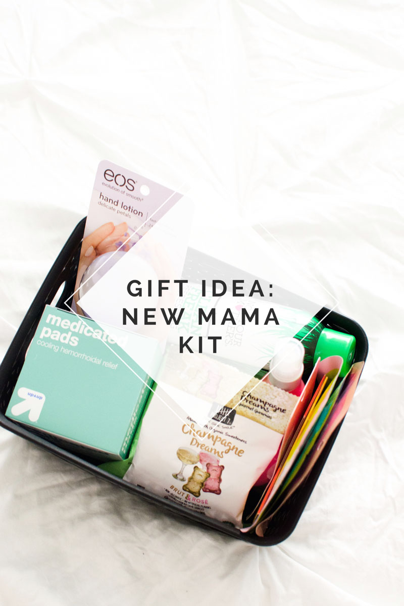 Gift Idea New Mama Kit - Perfect Gift Basket for Baby Shower or when the baby comes home